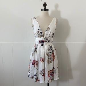 Illa Illa Floral Open Back Fit and Flare Dress
